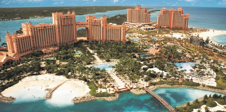 Aerial view of Atlantis Bahamas